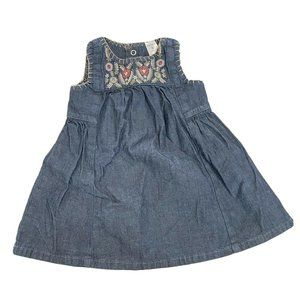 Carters Baby Girl 9M Chambray Dress